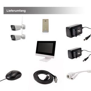 10,1 Zoll NVR W-LAN IP Funk Überwachungsmonito 2 WiFi W-LAN Kameras mit Türklinkel - Bild 11