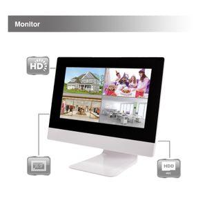 10,1 Zoll NVR W-LAN IP Funk Überwachungsmonitor mit bis zu 4 WiFi W-LAN Kameras mit Türklinkel - Bild 3