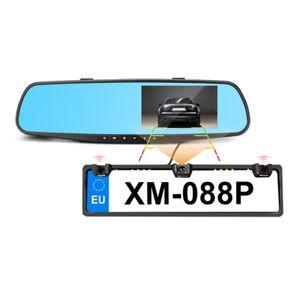 Auto DVR DashCam im Rückspiegel Full HD 1080p mit Rückfahrkamera und 2 PDC Sensoren im Nummernschild