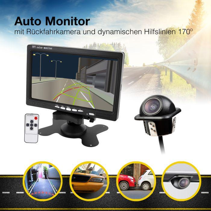 Rückfahrsystem mit 170° Rückfahrkamera mit dynamische Parklinien Hilfslinien 520TVL – Bild 1