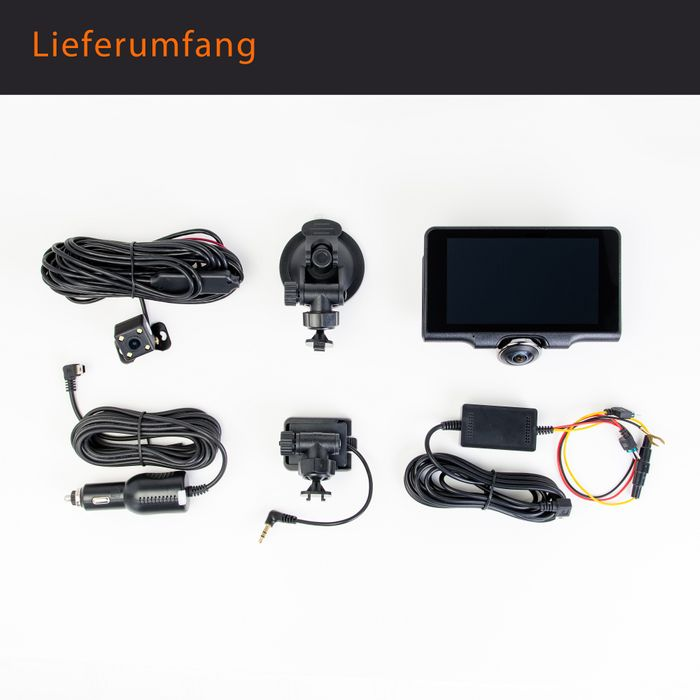 360° Panorama DVR DashCam Touchscreen Display Auto Kamera Parküberwachung mit GPS WDR – Bild 12