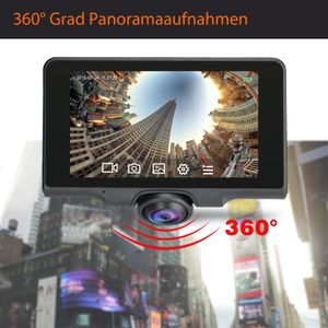 360° Panorama DVR DashCam Touchscreen Display Auto Kamera Parküberwachung mit GPS WDR - Bild 2