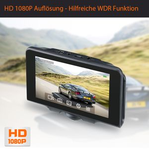 360° Panorama DVR DashCam Touchscreen Display Auto Kamera Parküberwachung mit GPS WDR - Bild 4
