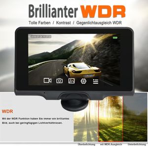 360° Panorama DVR DashCam Touchscreen Display Auto Kamera Parküberwachung mit GPS WDR - Bild 3