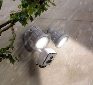 Full-HD  LED Flutlicht Strahler mit Bewegungsmelder Überwachungskamera 1080p Aussen 24W