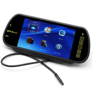 Auto Monitor Rückspiegel HD Display Bluetooth mit Freisprecher USD, SD, FM Transmitter Touchscreen 001