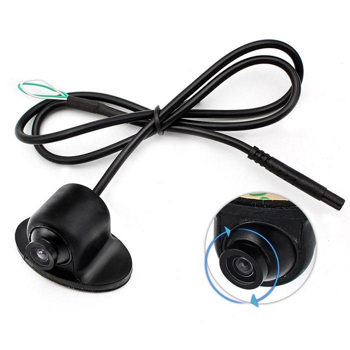 Mini Auto Mini Rückfahrkamera 170° Grad PAL gespiegelt Distanzlabel Kugelkopf – Bild 1