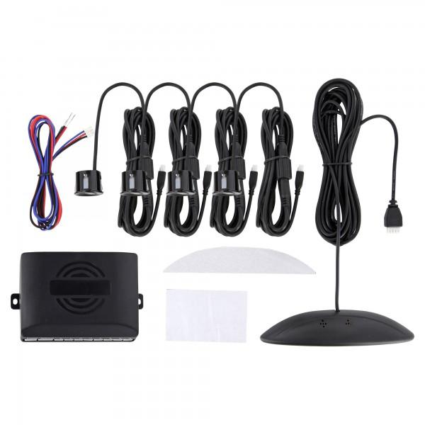 auto einparkhilfe kfz parkhilfe 4 lackierte pdc sensoren farbdisplay wasserdichte verbinder. Black Bedroom Furniture Sets. Home Design Ideas