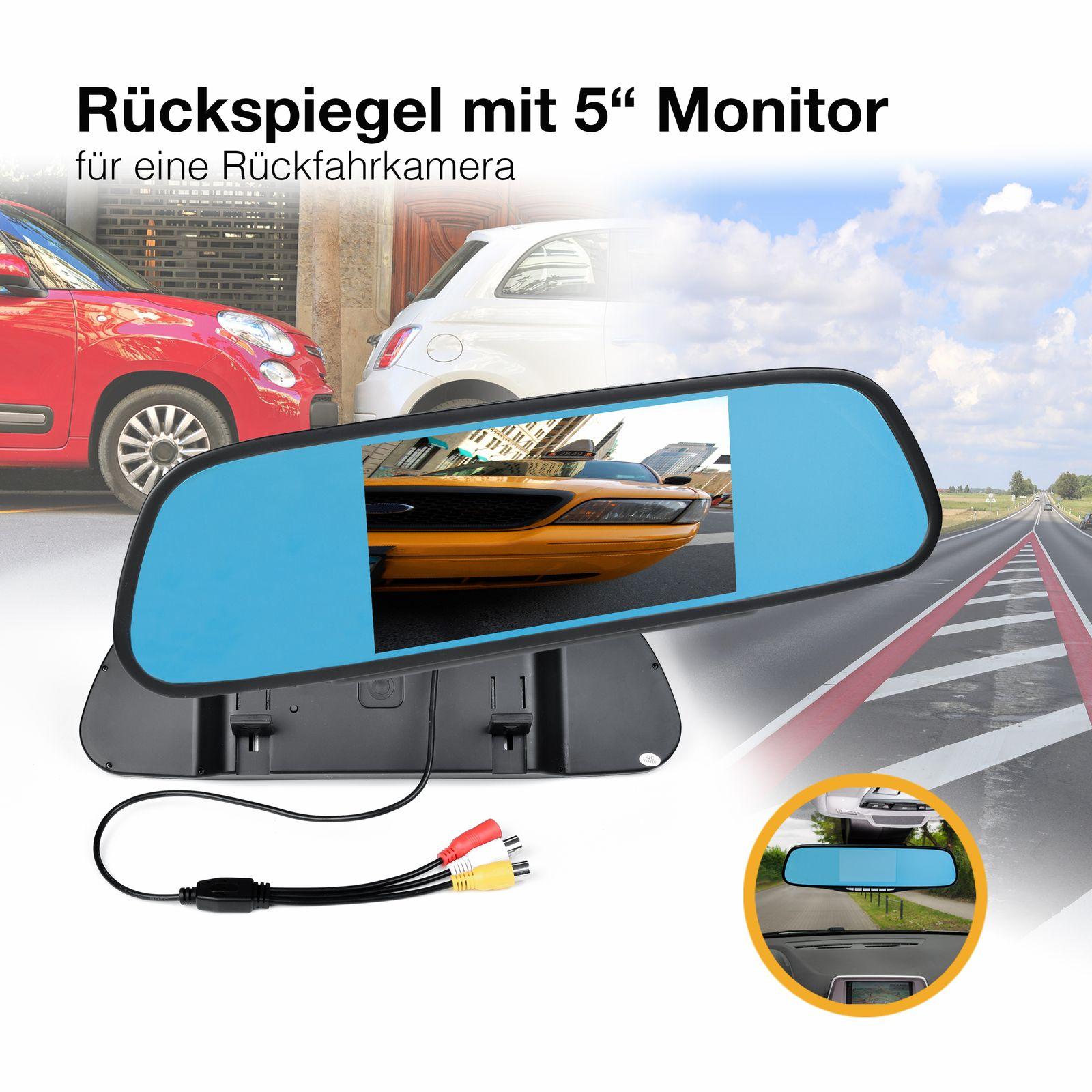 4,3  10,90cm Auto TFT Rückspiegel mit Digital Display Dual Twin Monitor für 2 Rückfahrkameras