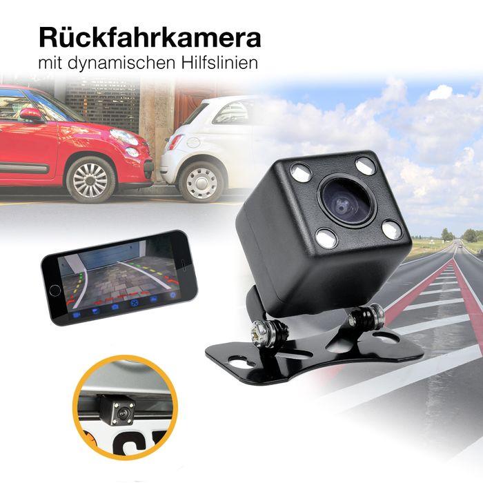 Unterbau Auto Mini Rückfahrkamera HD 170° Grad PAL mit Nachtsicht und dynamischen Parklinien 520 TVL – Bild 1
