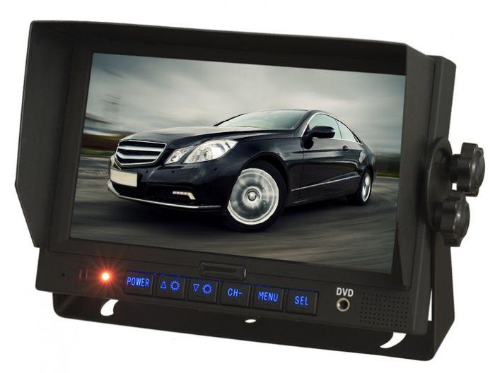 """LKW TRUCK Rückfahrssystem 7"""" Monitor +Auto Shutter Rückfahrkamera Sharp CCD 180° 10-32 V Mikrofon – Bild 2"""
