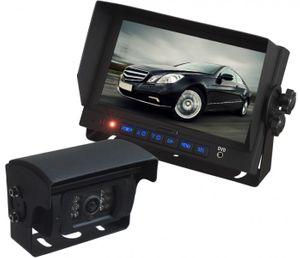 """LKW TRUCK Rückfahrssystem 7"""" Monitor +Auto Shutter Rückfahrkamera Sharp CCD 180° 10-32 V Mikrofon"""