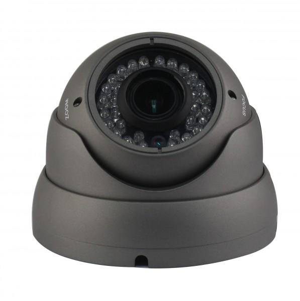 Dome Überwachungskamera, Sony® 960H Effio-E CCD Sensor, 700 TVL, 2,8 - 12 mm 30m IR OSD DNR D-WDR – Bild 1