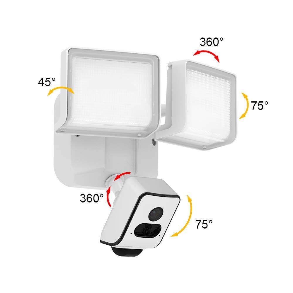 full hd led flutlicht lampe mit ip w lan berwachungskamera aussenleuchte mit bewegungssensor 64. Black Bedroom Furniture Sets. Home Design Ideas