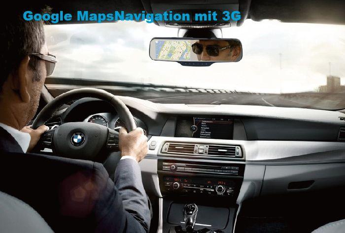3G Auto Android Rückspiegel Monitor DashCam mit Google Maps Navigation GPS Tracker SIM Slot Smartphone App – Bild 10
