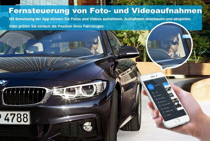 3G Auto Android Rückspiegel Monitor DashCam mit Google Maps Navigation GPS Tracker SIM Slot Smartphone App – Bild 12