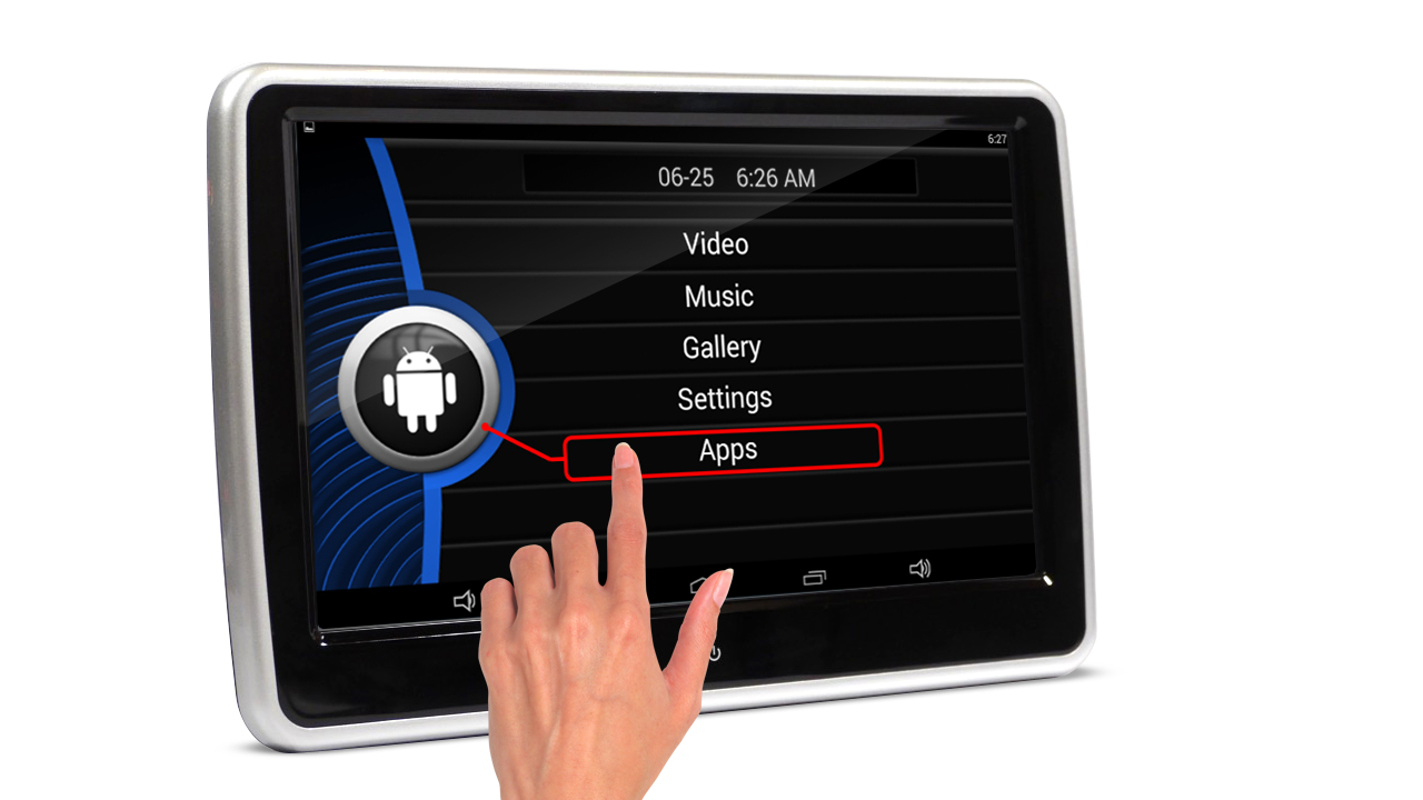 auto monitor digital touchscreen android 6 0 aktiv. Black Bedroom Furniture Sets. Home Design Ideas