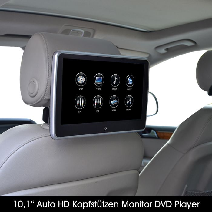 "10,1"" Digital Auto Kopfstütze mit Digital HD Touchscreen Monitor 1080p DVD Player USB SD HDMI – Bild 6"