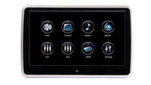 2 x 10,1 Zoll 25,65 cm Digital Auto Kopfstützen Monitore mit Touchscreen mit 1080p DVD Player USB SD Slot  - Bild 3