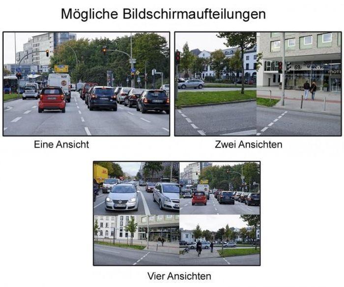 "15"" 38cm Quadbild Split CCTV LED Backlight Monitor Video Überwachungsmonitor für 4 Kameras – Bild 3"