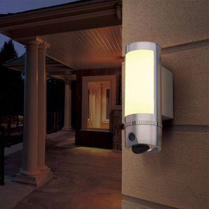 Full-HD LED Flutlicht Lampe mit IP Überwachungskamera Aussenleuchte Flutlichtkamera 180° Weitwinkel PIR Bewegungssensor Cloud  - Bild 3