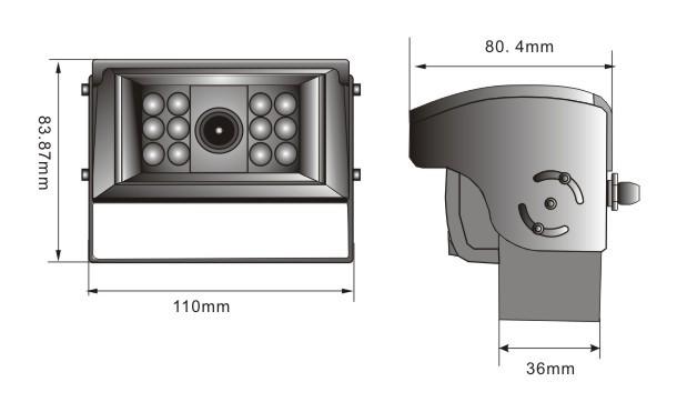 Kabel-Rückfahrkamera mit Shutter für Rückfahrsystem Shutter Blendenautomatik, IR Nachtsicht integriertes Mikrofon, – Bild 3