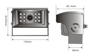 Kabel-Rückfahrkamera mit Shutter für Rückfahrsystem Shutter Blendenautomatik, IR Nachtsicht integriertes Mikrofon, - Bild 3