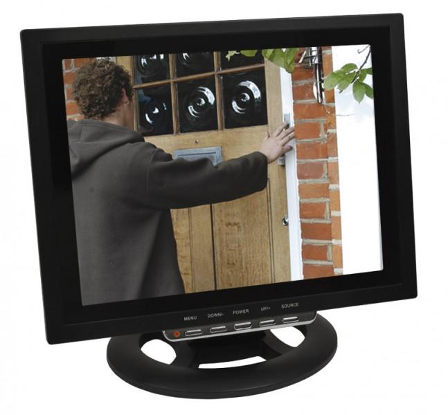 12  (30,48cm) TFT LCD Split Quadbild Monitor Video Überwachungsmonitor BNC RCA