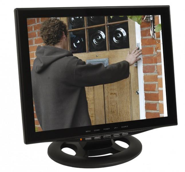 15  (38cm) CCTV Monitor Video Überwachungsmonitor mit LED Backlight HDMI VGA 2x BNC Video Eingang