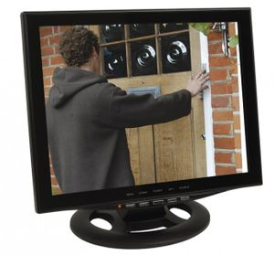 "15"" (38cm) CCTV Monitor Video Überwachungsmonitor mit LED Backlight HDMI VGA 2x BNC Video Eingang"