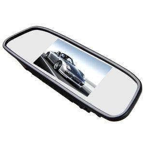 """4,3"""" 10,90cm Auto TFT Rückspiegel mit Digital Display Dual Twin Monitor für 2 Rückfahrkameras - Bild 4"""