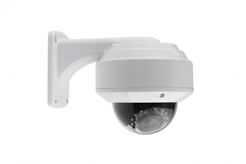 Dome Überwachungskamera Sony® Effio E CCD 700 TVL 960H 2,8-12mm Zoom Weiss Wasserdicht IP66