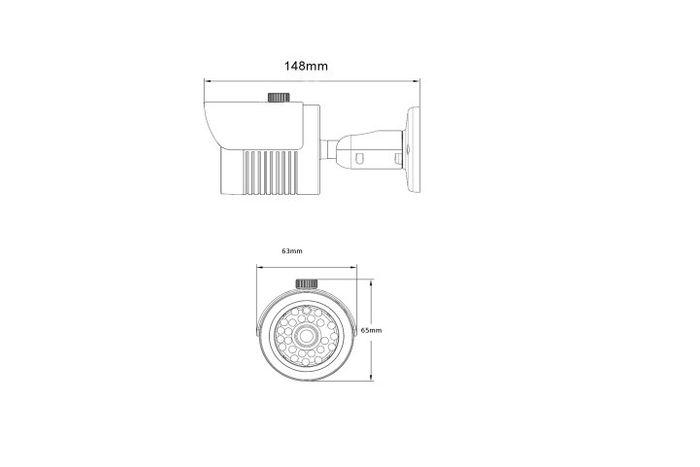 HD-SDI Überwachungskamera  2,1 Megapixel CMOS Sensor 1080P OSD  3,6 mm Zoom 3D-DNR WDR IP66 Wasserdicht – Bild 2