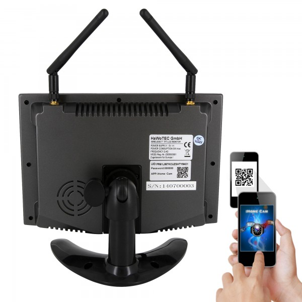 hd ip digitales echtzeit funk berwachungssystem monitor 1. Black Bedroom Furniture Sets. Home Design Ideas