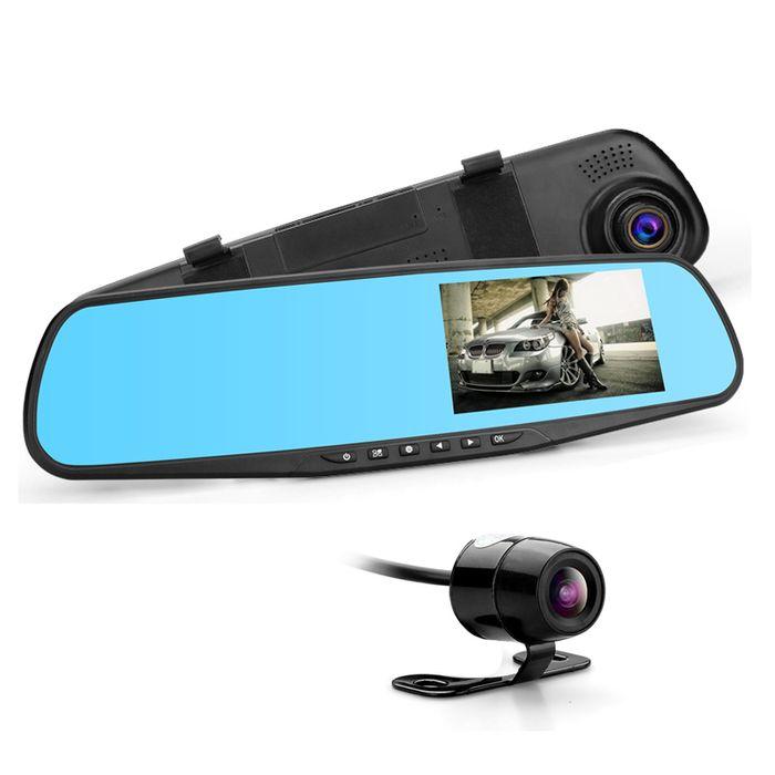 Auto DVR Rückspiegel Monitor DashCam mit Mini Rückfahrkamera mit Nachtsicht Full HD 1080p G-Sensor WDR – Bild 2