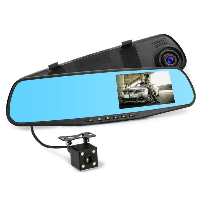 Auto DVR Rückspiegel Monitor DashCam mit Mini IR Rückfahrkamera mit Nachtsicht Full HD 1080p G-Sensor WDR – Bild 1