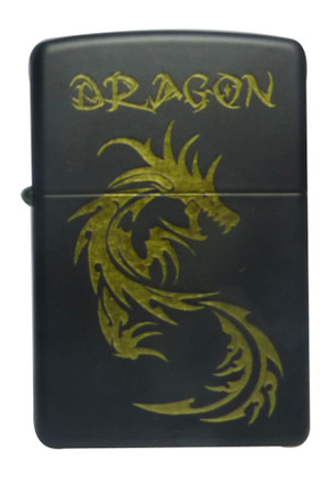 Zippo Dragon Schwarz Line Collection