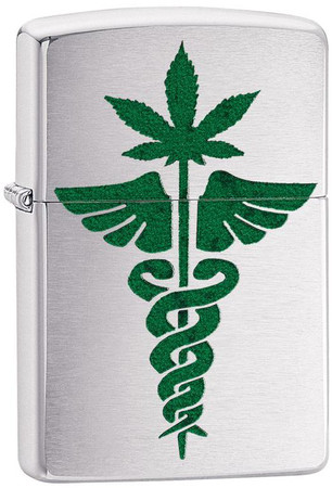 Sturmfeuerzeug Cannabis Medical Design