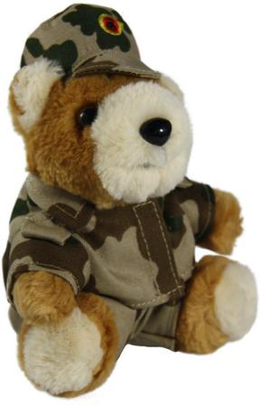 Schlüsselanhänger Bundeswehr-Teddy, Heer, Wüstentarn Einsatz, Afghanistan