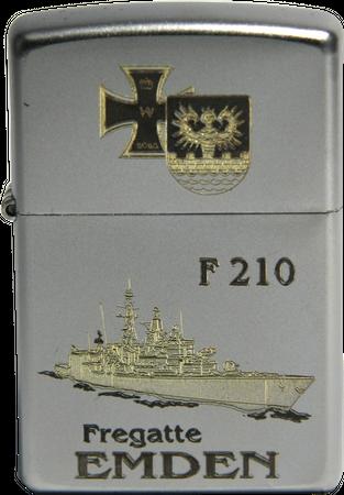 Sturmfeuerzeug Fregatte Emden F210, bicolor