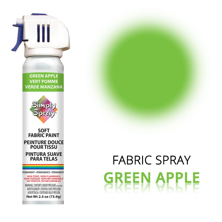 Fabric Paint Green Apple – Bild 1