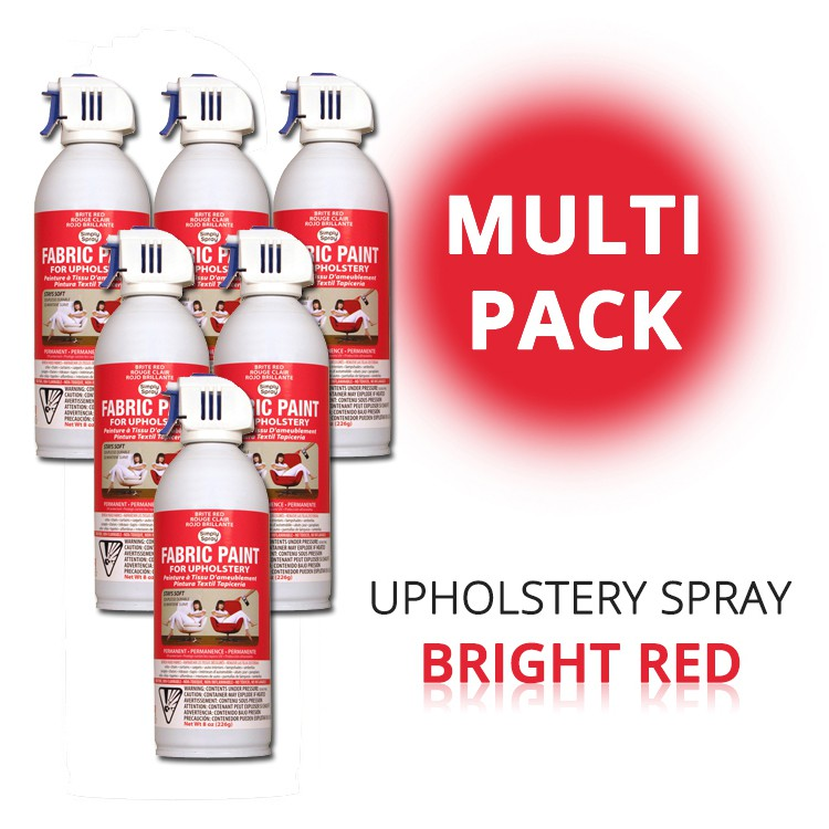 Upholstery Spray Bright Red (Multipack) – Bild 1