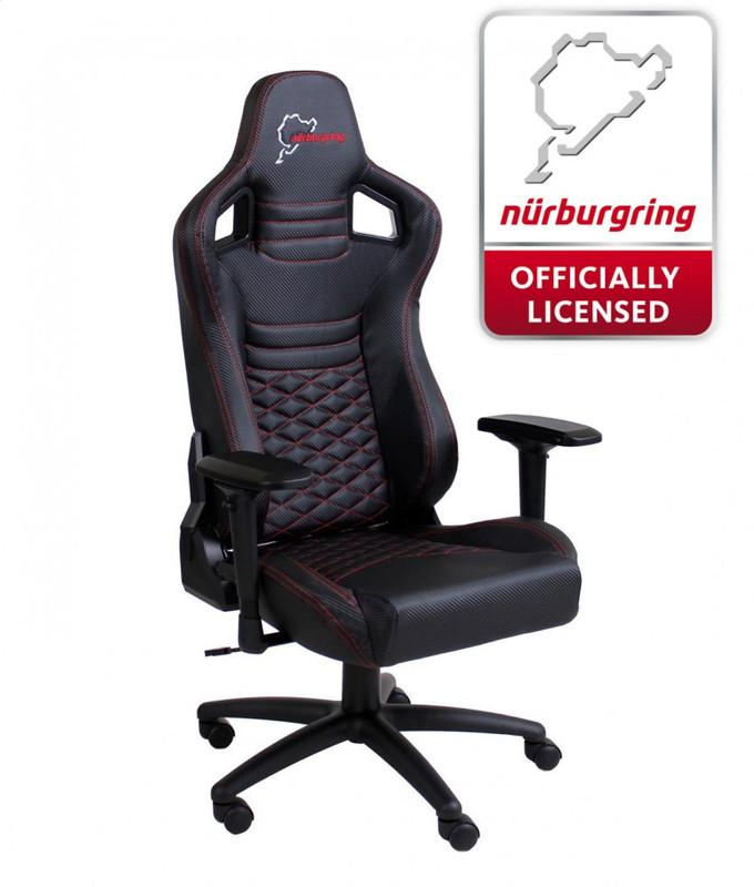 Speedmaster Chair Schwarz - Carbonfaser Optik - Nürburgring Edition