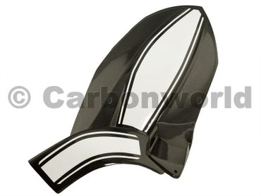 rear hugger carbon / white for Ducati Multistrada 1200 -race-