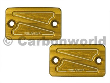 Behälterdeckel Kit gold CNC Racing für Ducati Monster
