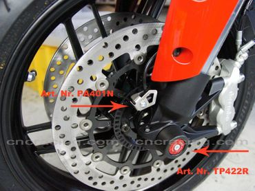 shaft guard frontwheel red CNC Racing for Ducati – Image 3
