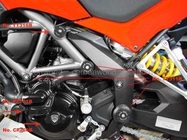 tappi telaio kit nero CNC Racing Ducati Multistrada 1200 – Image 3