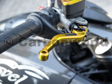 brake and clutch lever 150mm gold CNC Racing for Ducati – Image 2
