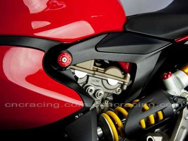 tappi telaio kit rosso CNC Racing per Ducati 1199 Panigale – Image 3