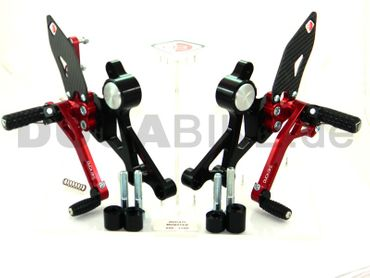 rearset black/red Ducabike for Ducati Monster 696 796 1100 – Image 1